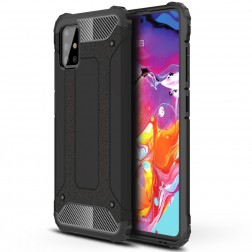 Pastiprinātas aizsardzības apvalks - melns (Galaxy A51)