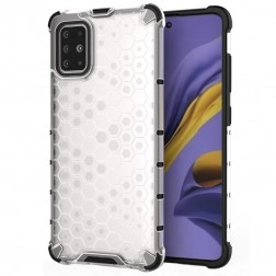 """""""Honeycomb"""" pastiprinātas aizsardzības apvalks - dzidrs (Galaxy A51)"""