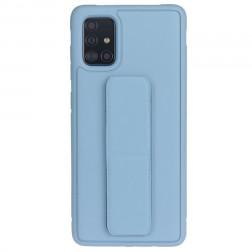 """""""Finger Grip"""" Kickstand cieta silikona (TPU) apvalks - zils (Galaxy A51)"""