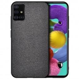 """""""Bi-Color"""" Splicing ādas apvalks - melns (Galaxy A51)"""