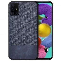 """""""Bi-Color"""" Splicing ādas apvalks - zils (Galaxy A51)"""