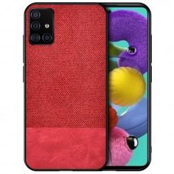 """""""Bi-Color"""" Splicing ādas apvalks - sarkans (Galaxy A51)"""