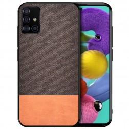 """Bi-Color"" Splicing ādas apvalks - brūns (Galaxy A51)"
