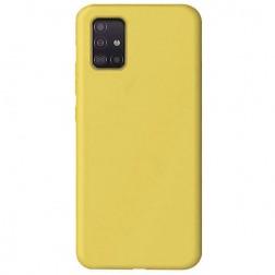 """Shell"" cieta silikona (TPU) apvalks - dzeltens (Galaxy A51)"