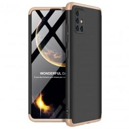 """Thin Fit 360""""  futrālis - melns / zelta (Galaxy A51)"""