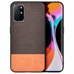 """Bi-Color"" Splicing ādas apvalks - brūns (Galaxy A52 / A52s)"