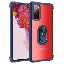 """""""Fashion"""" Kickstand cieta silikona (TPU) apvalks - dzidrs / zils (Galaxy A52 / A52s)"""