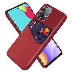 """""""KSQ"""" Shell ādas apvalks - sarkans (Galaxy A52 / A52s)"""