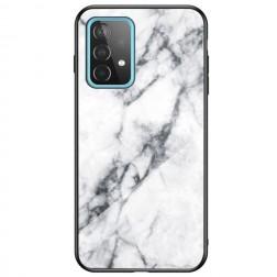 """Marble"" cieta silikona (TPU) apvalks - balts (Galaxy A52 / A52s)"