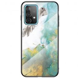 """Marble"" cieta silikona (TPU) apvalks - zaļš (Galaxy A52 / A52s)"