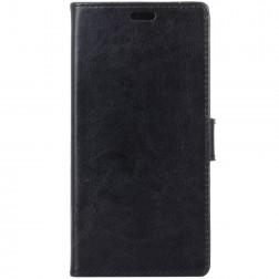 Atvēramais maciņš, grāmata - melns (Galaxy A6+ 2018)