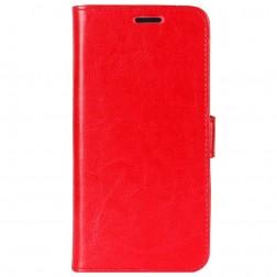 Atvēramais maciņš, grāmata - sarkans (Galaxy A6+ 2018)