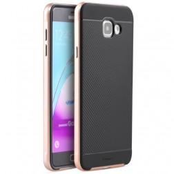"""IPAKY"" cieta silikona (TPU) apvalks - melns / rozs (Galaxy A7 2016)"