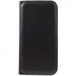 """""""Flip Wallet"""" atvēramais ādas maciņš - melns (Galaxy A7 2017)"""