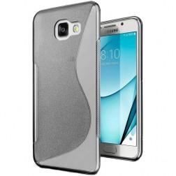 """""""S-Line"""" cieta silikona (TPU) apvalks - dzidrs, pelēks (Galaxy A7 2017)"""