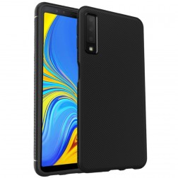 """Lenuo"" cieta silikona (TPU) apvalks - melns (Galaxy A7 2018)"