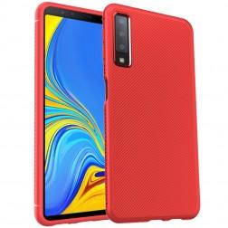 """""""Lenuo"""" cieta silikona (TPU) apvalks - sarkans (Galaxy A7 2018)"""
