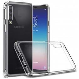 Cieta silikona (TPU) apvalks - dzidrs (Galaxy A7 2018)