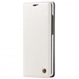 """""""CaseMe"""" solīds atvēramais ādas maciņš - balts (Galaxy A70)"""