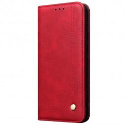 """""""Deluxe"""" atvēramais maciņš - sarkans (Galaxy A70)"""