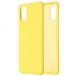 """Shell"" cieta silikona (TPU) apvalks - dzeltens (Galaxy A71)"
