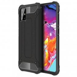 Pastiprinātas aizsardzības apvalks - melns (Galaxy A71)