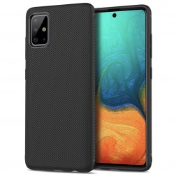 """Lenuo"" cieta silikona (TPU) apvalks - melns (Galaxy A71)"