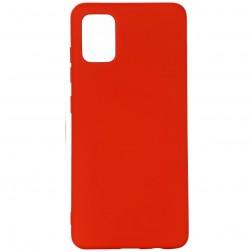 """Shell"" cieta silikona (TPU) apvalks - sarkans (Galaxy A71)"