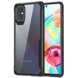 """""""Armor"""" apvalks - dzidrs apmales melnā krāsā (Galaxy A71)"""