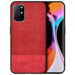 """""""Bi-Color"""" Splicing ādas apvalks - sarkans (Galaxy A72)"""