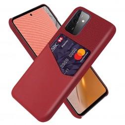 """""""KSQ"""" Shell ādas apvalks - sarkans (Galaxy A72)"""