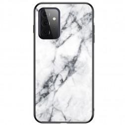 """Marble"" cieta silikona (TPU) apvalks - balts (Galaxy A72)"