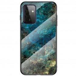 """Marble"" cieta silikona (TPU) apvalks - zils (Galaxy A72)"