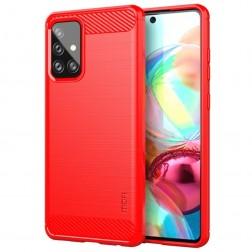 """Mofi"" cieta silikona (TPU) apvalks - sarkans (Galaxy A72)"