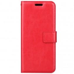 Atvēramais maciņš, grāmata - sarkans (Galaxy A8 2018)