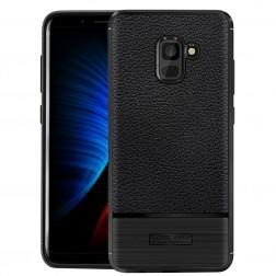 """Carbon"" cieta silikona (TPU) apvalks - melns (Galaxy A8 2018)"
