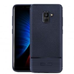 """Armor"" cieta silikona (TPU) apvalks - zils (Galaxy A8 2018)"