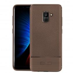 """Armor"" cieta silikona (TPU) apvalks - brūns (Galaxy A8 2018)"