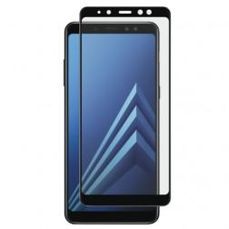 """""""Calans"""" Tempered Glass pilnīgi aizsedzams ekrāna aizsargstikls 0.2 mm - melns (Galaxy A8 2018)"""