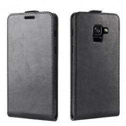 Vertikāli atvēramais futrālis - melns (Galaxy A8 2018)