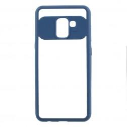 """""""FOCUS"""" apvalks - dzidrs apmales zilā krāsā (Galaxy A8 2018)"""