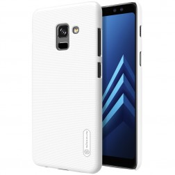 """Nillkin"" Frosted Shield apvalks - balts + ekrāna aizsargplēve (Galaxy A8 2018)"