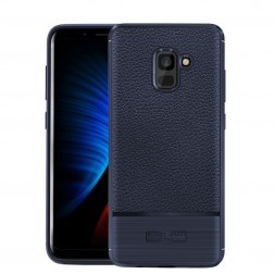 """Armor"" cieta silikona (TPU) apvalks - zils (Galaxy A8+ 2018)"