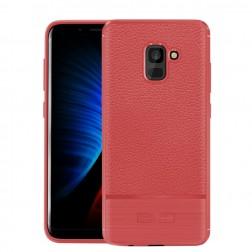 """Armor"" cieta silikona (TPU) apvalks - sarkans (Galaxy A8+ 2018)"