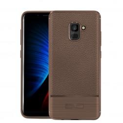 """Armor"" cieta silikona (TPU) apvalks - brūns (Galaxy A8+ 2018)"
