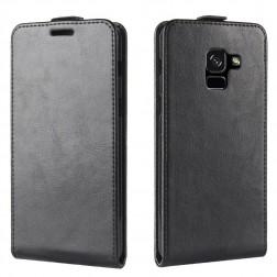 Vertikāli atvēramais futrālis - melns (Galaxy A8+ 2018)