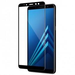 """""""Calans"""" Tempered Glass pilnīgi aizsedzams ekrāna aizsargstikls 0.2 mm - melns (Galaxy A8+ 2018)"""