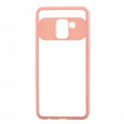 """""""FOCUS"""" apvalks - dzidrs apmales rozā krāsā (Galaxy A8 2018)"""