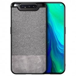 """Bi-Color"" Splicing ādas apvalks - pelēks (Galaxy A80)"