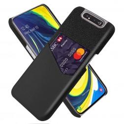 """""""KSQ"""" Shell ādas apvalks - melns (Galaxy A80)"""